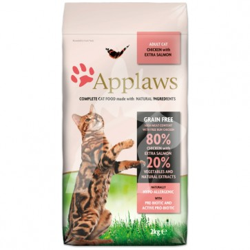 (4023) 2kg Applaws Cat - Chicken & Salmon 無穀物雞肉三文魚配方成貓乾糧