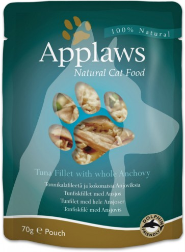 (8006) 70g Applaws Cat Pouches  成貓濕糧餐包 - 吞拿魚&鯷魚