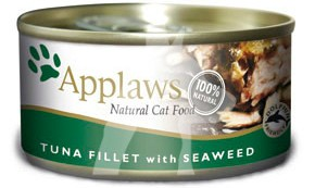 (1009) 70g Applaws Cat Tin - Tuna, Seaweed 成貓罐頭 - 吞拿魚&紫菜