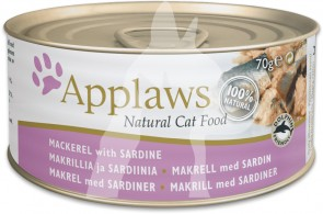 (1015) 70g Applaws Cat Tin - Mackerel with Sardine 成貓罐頭 - 鯖魚&沙丁魚