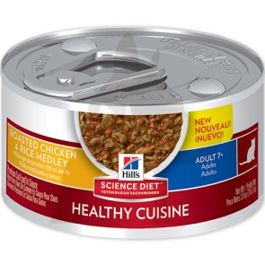 (10446) 2.8oz x 24can Hill's 高齡貓濕糧燉肉配方 - 雞肉及米