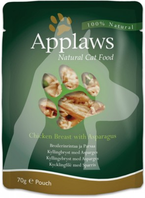 (8002) 70g Applaws Cat Pouches  成貓濕糧餐包 - 雞胸&蘆筍