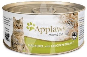 (1013) 70g Applaws Cat Tin - Mackerel with Chicken Breast 成貓罐頭 - 鯖魚&雞胸