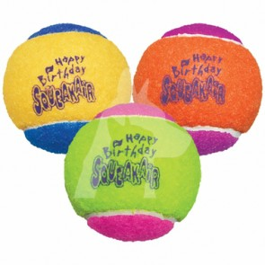 (AST2Y) KONG SqueakAir Birthday Ball 發聲網球狗玩具 - 3pack x Medium
