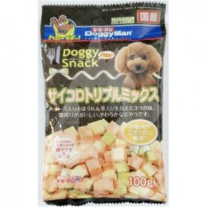 (81435) 100g Doggyman 芝士野菜霜降肉粒