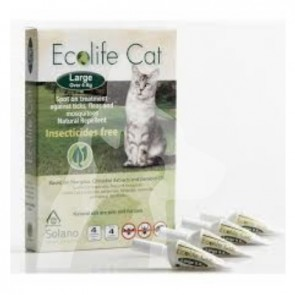 (ES044) 一盒四支0.8ml Ecolife Spot on 純天然貓用驅蚤滴頸劑 (4kg以上)