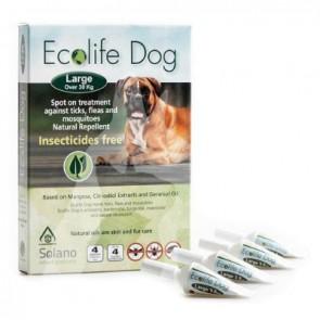 (ES020) 一盒四支3ml Ecolife Spot on 純天然狗用驅蚤滴頸劑 (大型犬 30kg以上)