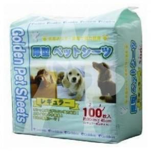 (100片) 細碼 - Golden Pet Sheets 強力吸濕除臭厚型寵物尿墊