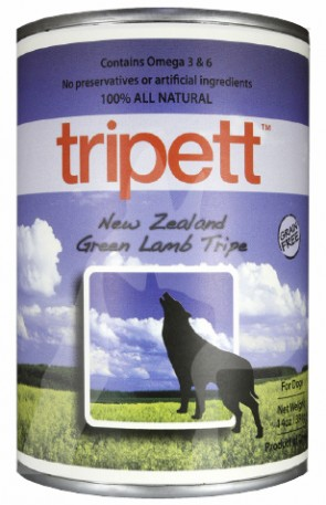 "14oz PetKind ""Tripett "" 無穀物狗罐頭 ~ 紐西蘭羊草胃配方"