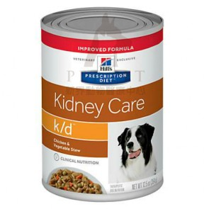 (3395) 12.5oz x 12can Hill's Prescription Diet - k/d Kidney Care Canine Canned Food (Chicken & Vegetable Stew )