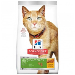 (10777) 3lb Hill's® 年輕活力(雞肉及米)配方 - 高齡貓7+乾糧