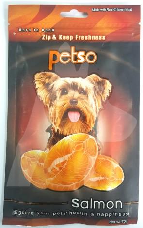 (PSO03) 70g Petso 雞肉條小食 - 三文魚味