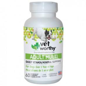 (41047) 60粒 Vet Worthy Adult Dog Muti 成犬營養補充咀嚼片